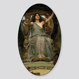 Circe by JW Waterhouse Sticker (Oval)