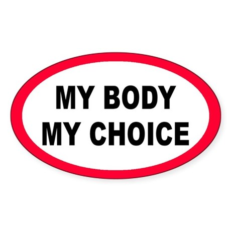 MY BODY... Oval Sticker