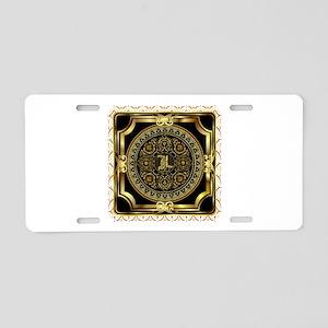 Monogram L Aluminum License Plate