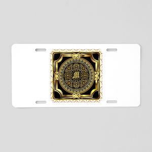 Monogram M Aluminum License Plate