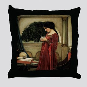 Crystal Ball by JW Waterhouse Throw Pillow