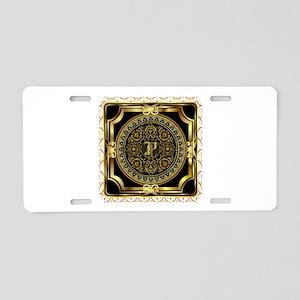 Monogram P Aluminum License Plate