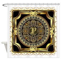 Monogram P Shower Curtain