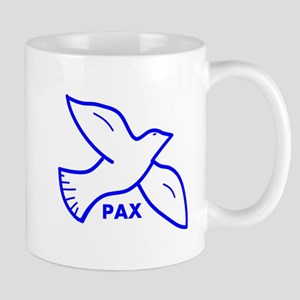 Dove with Pax (Latin for peace) Mugs