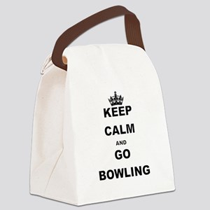 KEEP CALM AND GO BOWLING Canvas Lunch Bag