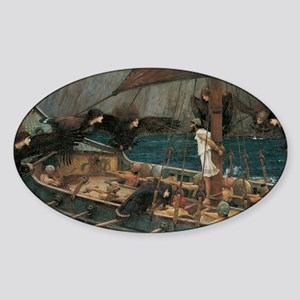 Ulysses and the Sirens by JW Waterh Sticker (Oval)