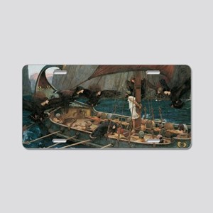 Ulysses and the Sirens by J Aluminum License Plate