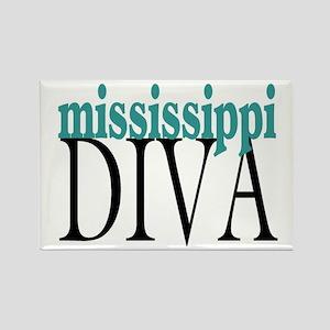Mississippi Diva Rectangle Magnet
