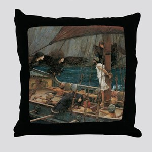 Ulysses and the Sirens by JW Waterhou Throw Pillow