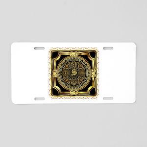 Monogram S Aluminum License Plate