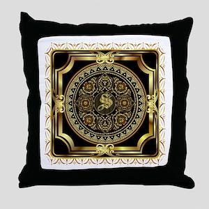 Monogram S Throw Pillow