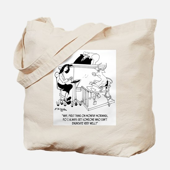A Cow Testifies Tote Bag