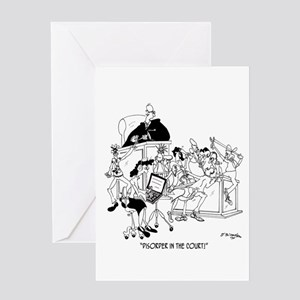 Disorder in the Court Greeting Card