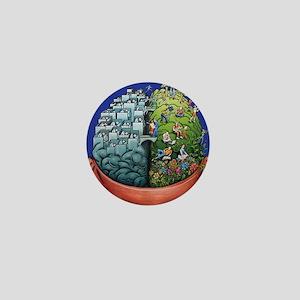 Hemispheres Mini Button