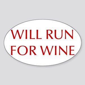 will-run-for-wine-OPT-RED Sticker