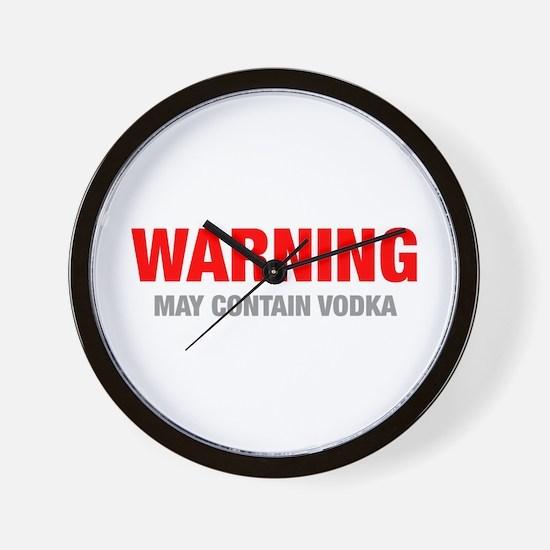 warning-VODKA-HEL-RED-GRAY Wall Clock