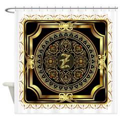 Monogram Z Shower Curtain
