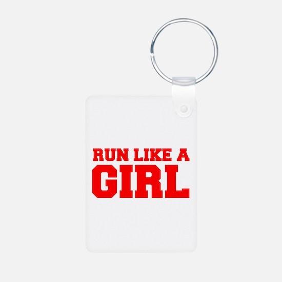 RUN-LIKE-A-GIRL-FRESH-RED Keychains