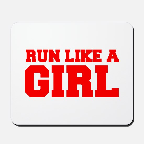 RUN-LIKE-A-GIRL-FRESH-RED Mousepad