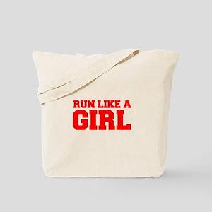 RUN-LIKE-A-GIRL-FRESH-RED Tote Bag