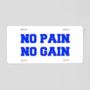 NO-PAIN-FRESH-BLUE Aluminum License Plate