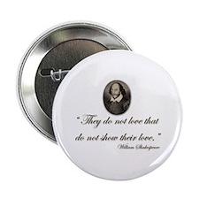 Shakespeare Love Quote Button
