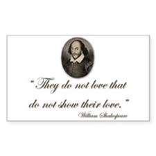 Shakespeare Love Quote Rectangle Sticker