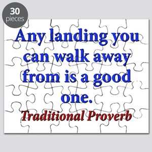 Any Landing You Can Walk Away From - Traditional P