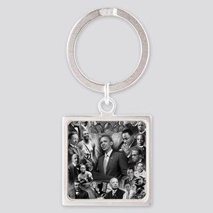 Great Black Leaders Square Keychain