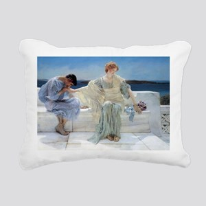 Alma Tadema Ask Me No Mo Rectangular Canvas Pillow