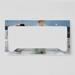 Alma Tadema Ask Me No More License Plate Holder