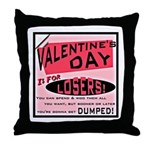 Valentine's Day for Losers Throw Pillow