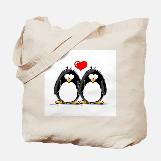 Love Penguins Tote Bag
