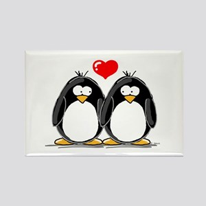 Love Penguins Rectangle Magnet