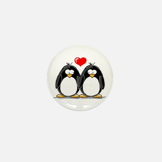 Love Penguins Mini Button