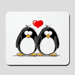 Love Penguins Mousepad