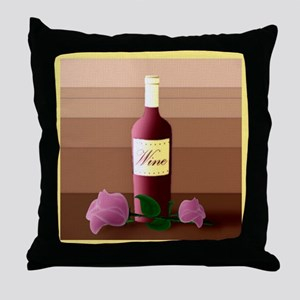 Wine And Roses Pop Art Throw Pillow