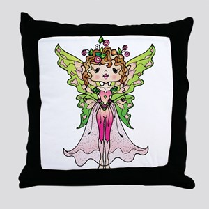 Fairy with Pink outfit Throw Pillow