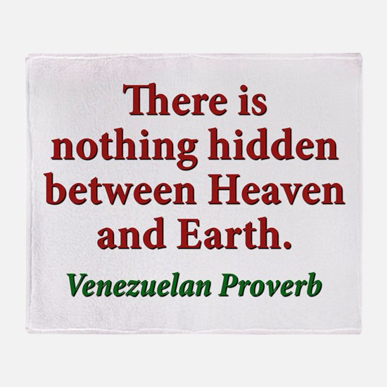 There Is Nothing Hidden - Venezuelan Throw Blanket