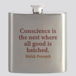 Conscience Is The Nest - Welsh Flask