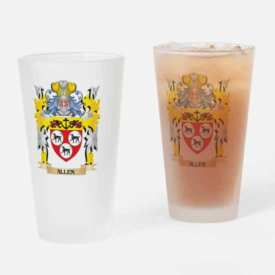 Allen Coat of Arms - Family Crest Drinking Glass