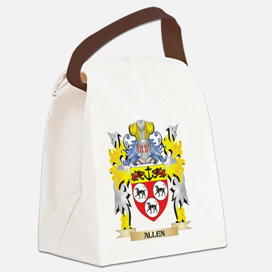 Allen Coat of Arms - Family Crest Canvas Lunch Bag