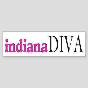 Indiana Diva Bumper Sticker