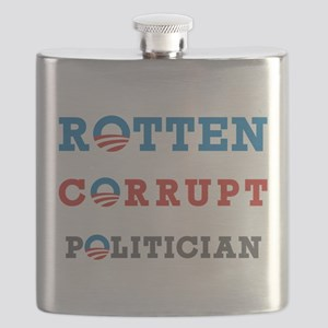 Rotten Corrupt Politician Flask