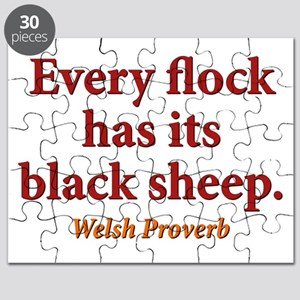 Every Flock Has Its Black Sheep - Welsh Puzzle