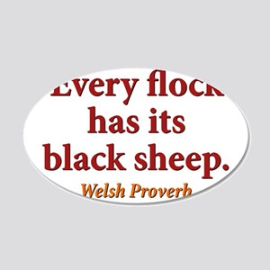 Every Flock Has Its Black Sheep - Welsh 20x12 Oval