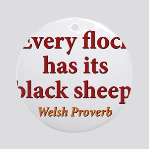 Every Flock Has Its Black Sheep - Welsh Round Orna