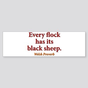 Every Flock Has Its Black Sheep - Welsh Sticker (B