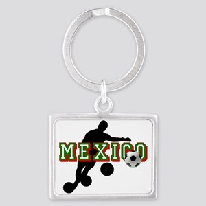 Mexican Soccer Player Landscape Keychain