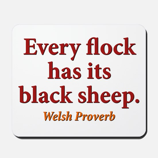 Every Flock Has Its Black Sheep - Welsh Mousepad